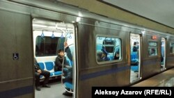 Вагон алматинского метро. Иллюстративное фото.