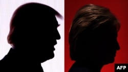 Дональдом Трамп и Хиллари Клинтон.