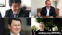 Бывшие казахстанские чиновники, приговоренные заочно к тюремным срокам: Акежан Кажегельдин, Мухтар Аблязов, Виктор Храпунов, Рахат Алиев.