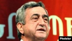 Президент Армении, лидер РПА Серж Саргсян (архивная фотография)