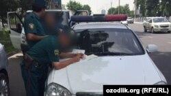 Өзбекстан милициясы (Көрнекі сурет).