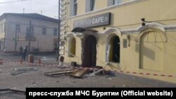 Cafe in Ulan-Ude after the explosion