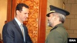 دیدار احمد وحیدی با بشار اسد، رئیس جمهور سوریه
