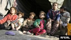 Afghan refugees at a United Nations High Commissioner for Refugees (UNHCR) camp in Kabul.