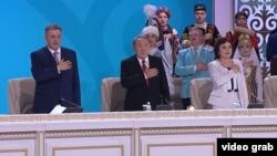 Қазақстан президенті Нұрсұлтан Назарбаев Ассамблея сессиясында. Астана, 28 сәуір 2018 жыл