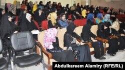جانب من إجتماعات مشروع إعداد القيادات النسوية الشابة في البصرة