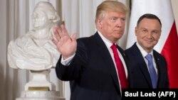 Presidenti i Shteteve të Bashkuara, Donald Trump, dhe ai i Polonisë, Andrzej Duda. Varshavë, 6 korrik 2017.