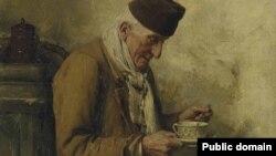 Альбэрт Анкер «Стары чалавек п'е гарбату» (1895)