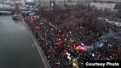 One of AirPano's photos from above the Moscow demonstration in December 2011
