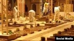 دفن مهدی وریجی یکی از پزشکان جان باخته بر اثر ابتلا به کرونا در زادگاهش ساری