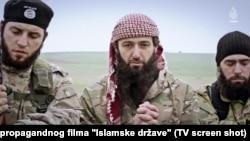 Militanti iz BiH, Kosova, Makedonije i Srbije u propagandnom snimku IDIL-a iz Sirije, 2015.