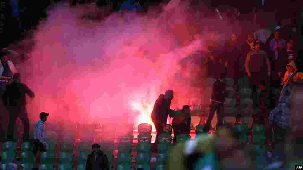 Беспорядки на стадионе в Порт-Саиде.
