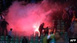Стадион в огне