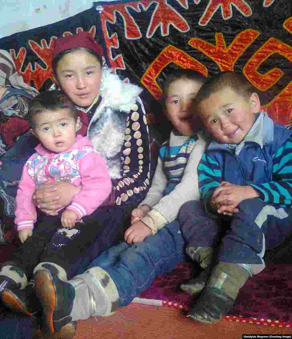 Children in Bash-Gumboz. Ubaidylda Shaimov and his wife have helped to raise Talant, the boy on the right, while his mother dealt with serious health problems. The Murghab region suffers from high infant and mother mortality rates.