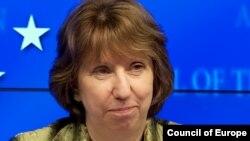 Avropa Ittifaqının xarici işlər komissarı Catherine Ashton.