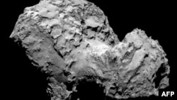 An image taken on August 3 by space probe Rosetta's OSIRIS narrow-angle camera and obtained on August 6 from the European Space Agency (ESA) shows the comet 67P/Churyumov-Gerasimenko from a distance of 285 kilometers.