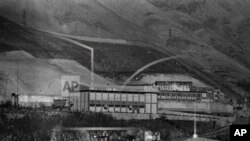 A view of Evin Prison in Tehran, Iran in January, 1987
