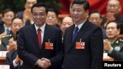 Лі Кецян (л) і Сі Цзіньпін
