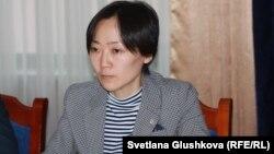 Вера Ким, председатель организации «Национальная волонтёрская сеть». Астана, 12 мая 2015 года.