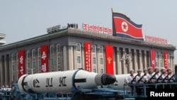 Parada ushtarake në Korenë e Veriut më 15 prill