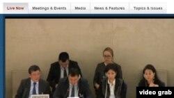 БУУнун Адам укуктары комитетинин жыйынындагы кыргызстандык топ, Женева. 19-январь.