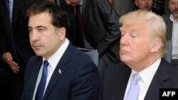 Михаил Саакашвили и Дональд Трамп в Батуми, 2012