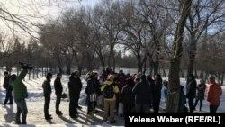 Встреча жителей Караганды и активистов с акимом города в связи с возможным строительством в Центральном парке спортивного объекта, 12 марта 2019 года, Караганда.