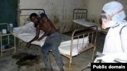 لیبریا در آفریقای غربی یکی از مبتلایان به ابولا