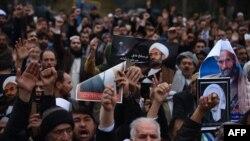 Участники демонстрации в афганском городе Герат. 3 января 2017 года.
