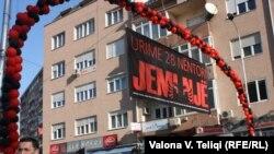 Pamje nga Prishtina me rastin e festimeve të Ditës së Pavarësisë së Shqipërisë
