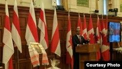 Дэпутат парлямэнту Чандра Арыя вітае беларусаў Канады