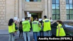 Jurnalistlərin aksiyası - 27 avqust 2015