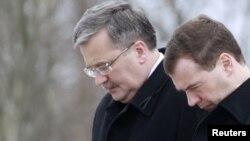 Dmitry Medvedev și Bronislaw Komorowski