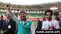 Рамзан Кадыров и звезда египетской сборной футболист Мохамед Салах