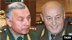 Николай Макаров (слева) сменил Юрия Балуевского в Генштабе (коллаж РС)