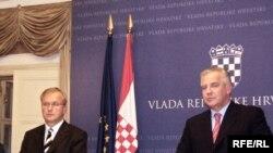Oli Rehn i Ivo Sanader, u Zagrebu, 12.11.2008, Photo: Enis Zebić