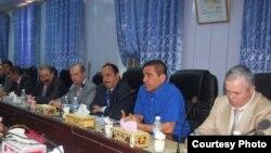جانب من إجتماع محافظة ميسان وممثلي الشركات