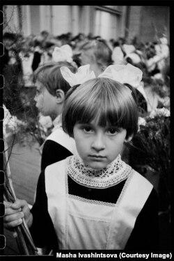 Школьница в Ленинграде. 1978 год.