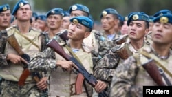 Солдаты казахстанской армии. Иллюстративное фото.