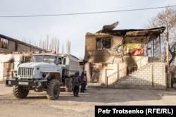 Силовики в селе Масанчи. Жамбылская область, 26 февраля 2020 года.