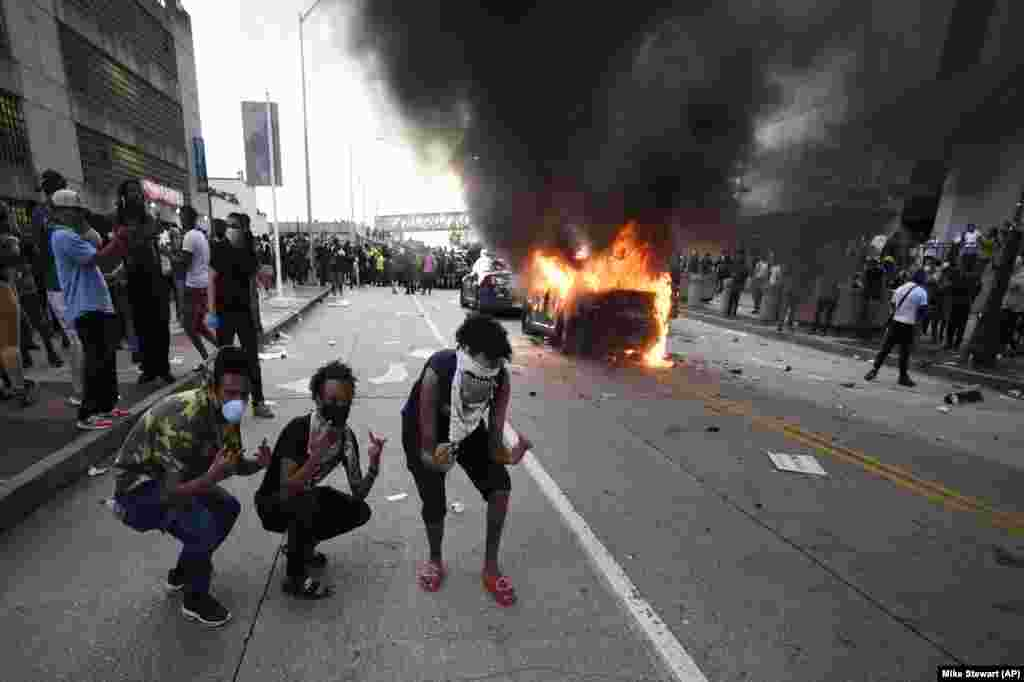 Протесты затронули также американский юг – Джорджию и особенно ее столицу Атланту