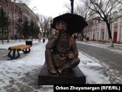 Вид на улицу в городе Петропавловск. 22 марта 2014 года.