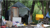 Зруйнований ромський табір у Львові, на який пізно увечері 23 червня 2018 року було здійснено напад крайніми правими групами.