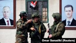 Сирийские и российские военные. Архивное фото.