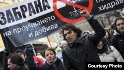 Proteste împotriva explorării gazelor de şist