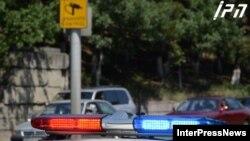 Gürcüstan. Yol polisi və yol kamerası.
