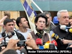 25 траўня 2011 году. Апазыцыйная акцыя ў Тбілісі.