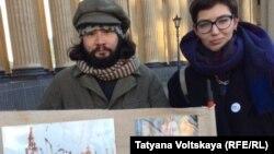 Антивоенная арт-акция в Петербурге (27 декабря 2015 года)