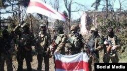 Тактычная група «Беларусь» — беларускія добраахвотнікі, якія ваююць на баку Ўкраіны. Фота з Фэйсбуку