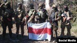 Беларускія добраахвотнікі, якія ваююць на баку Ўкраіны. Фота з Фэйсбуку.